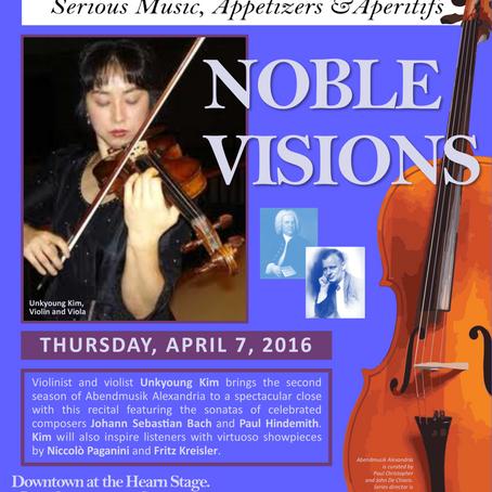 69. Violinist/Violist Unkyoung Kim to Bring Abendmusik Alexandria to a Spectacular Close