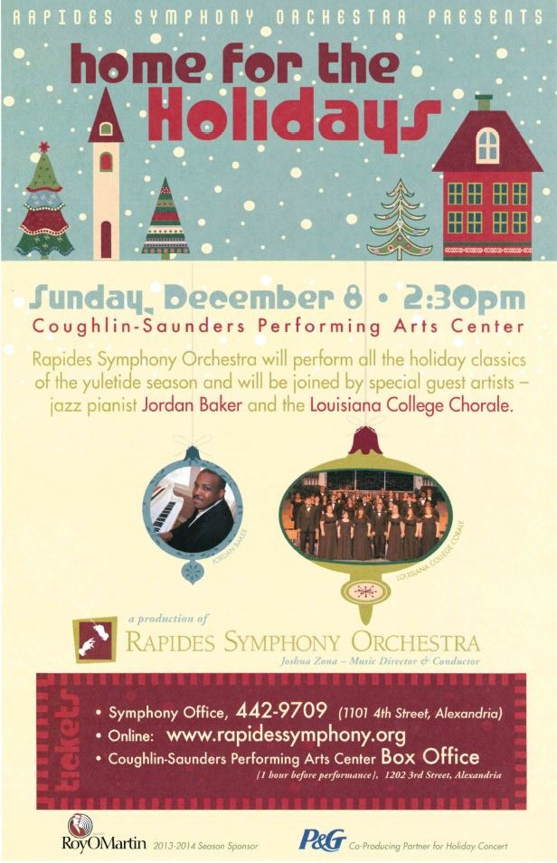 Rapides Symphony Orchestra Home for the Holidays