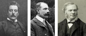 Left to Right: Giacomo Puccini, Edward Elgar, and César Franck