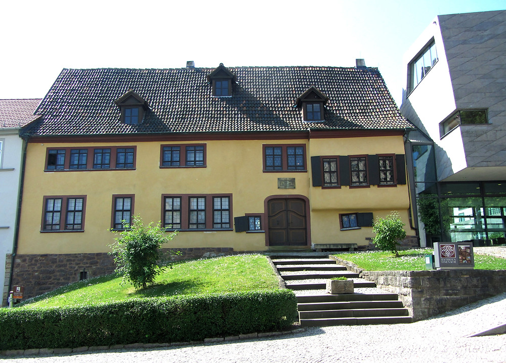 Jackson visited the Bach House in Eisenach in summer 2013. This house where Bach is believed to have been born in 1685 is now home to a museum about the great composer.