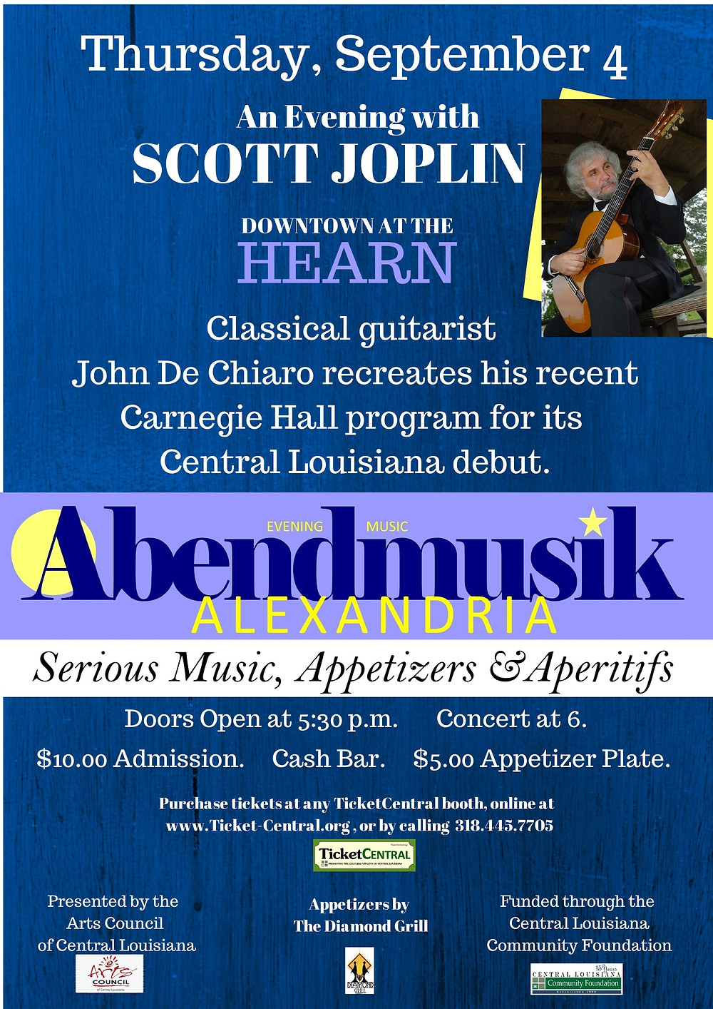 An Evening with Scott Joplin launches Abendmusik Alexandria this September.