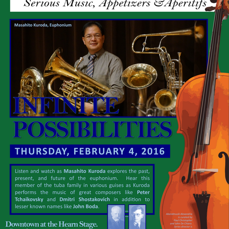 65. Abendmusik Alexandria Offers an Evening of Low Brass at Infinite Possibilities, February 4