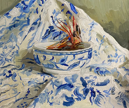 """Tiger Prawns in a Chinese Bowl,10x12"""""""