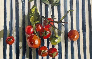 """Tomatoes on the vine 10X8"""""""