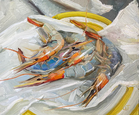 """Fresh from the fishmongers, 10X12"""" unframed size"""