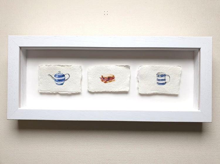 Pot of tea and a bacon sandwich