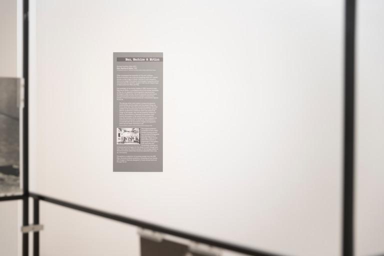 Man, Machine, Motion (Installation View)