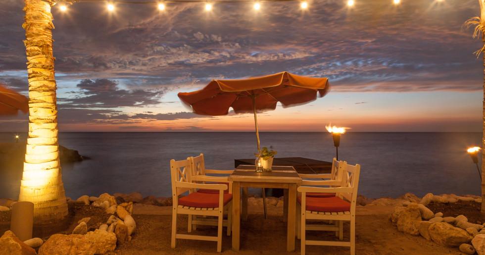 """..... and enjoy the sunset while having dinner at one of Curacao's best restaurants """"Restaurant Karakter"""""""