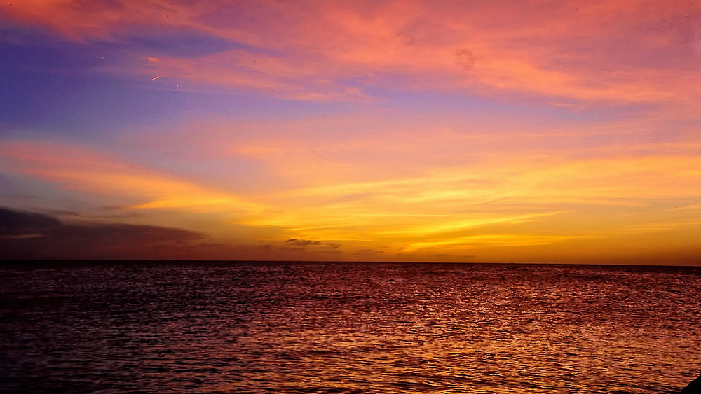 Beautiful sunset in the Caribbean