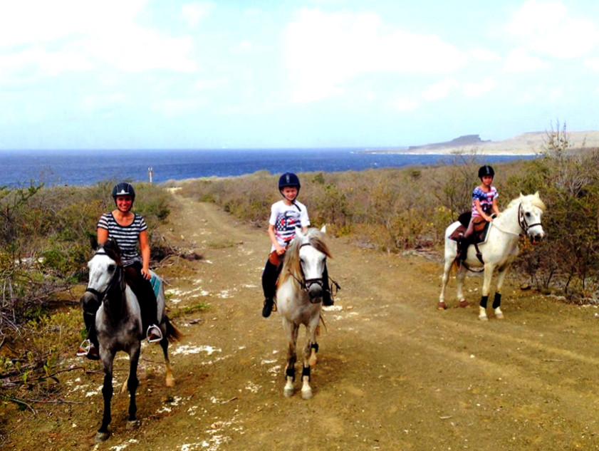 Horseback riding with Finca Casju in Curacao