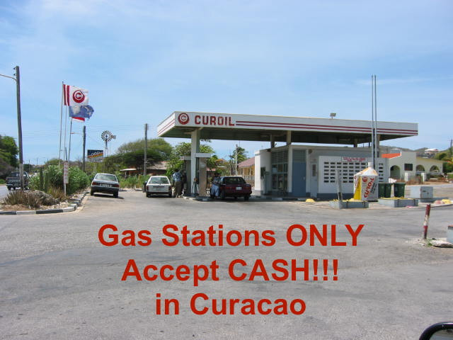 Gas stations only accept cash in Curacao