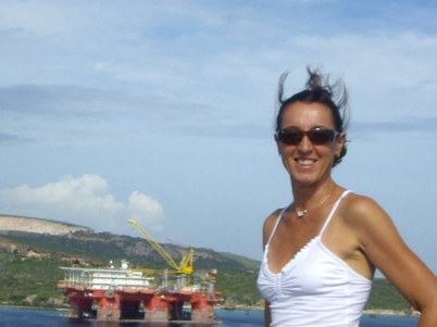 Me with a bad hair day in the Caribbean