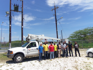TRES Curaçao now has 9 instructed persons for working in the vicinity zone of the Aqualectra overhea