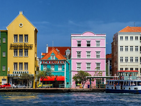 Willemstad, Curacao's Capital in Rainbow Colors