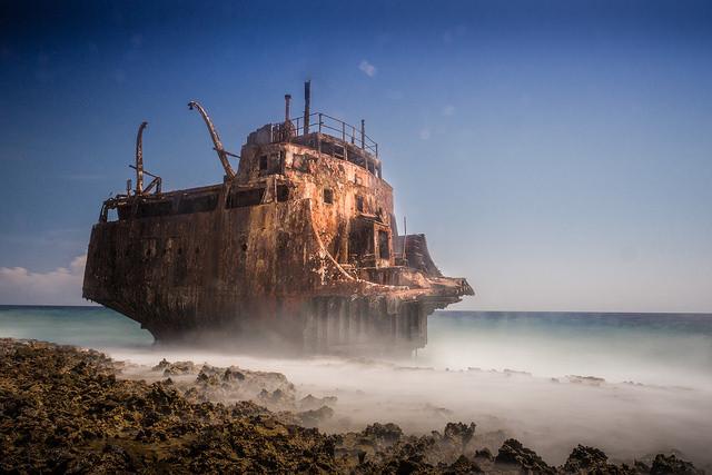 Shipwreck Klein Curacao Island