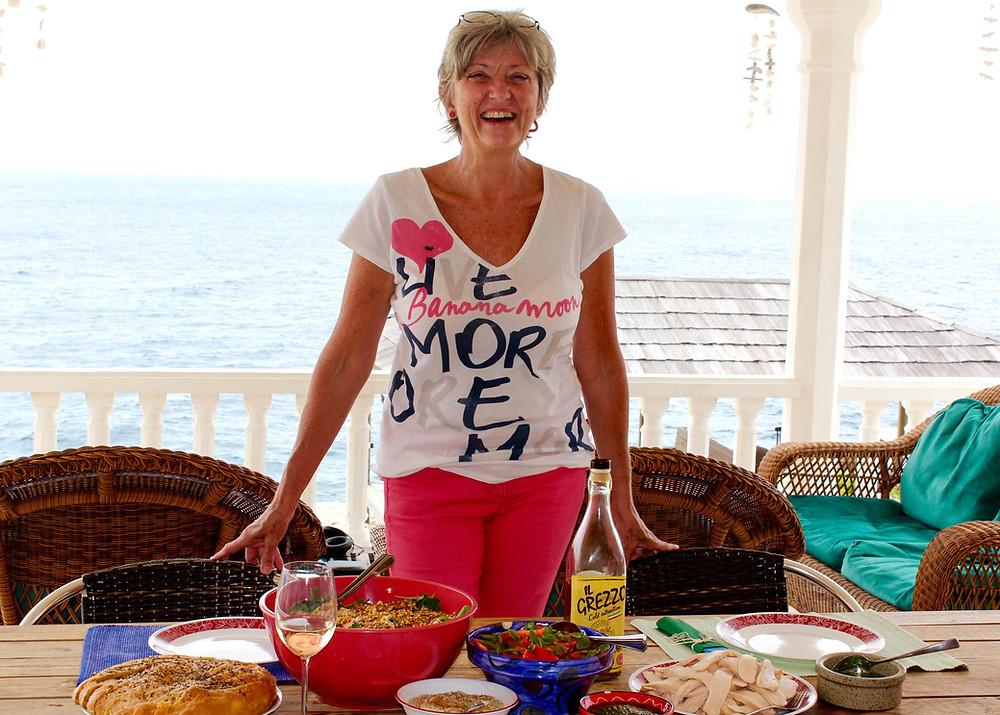 Eveline Sipkes, romantic vacation Curacao