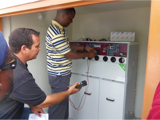 In May and June NV GEBE, the electricity company for St. Martin, Statia and Saba, had their electric
