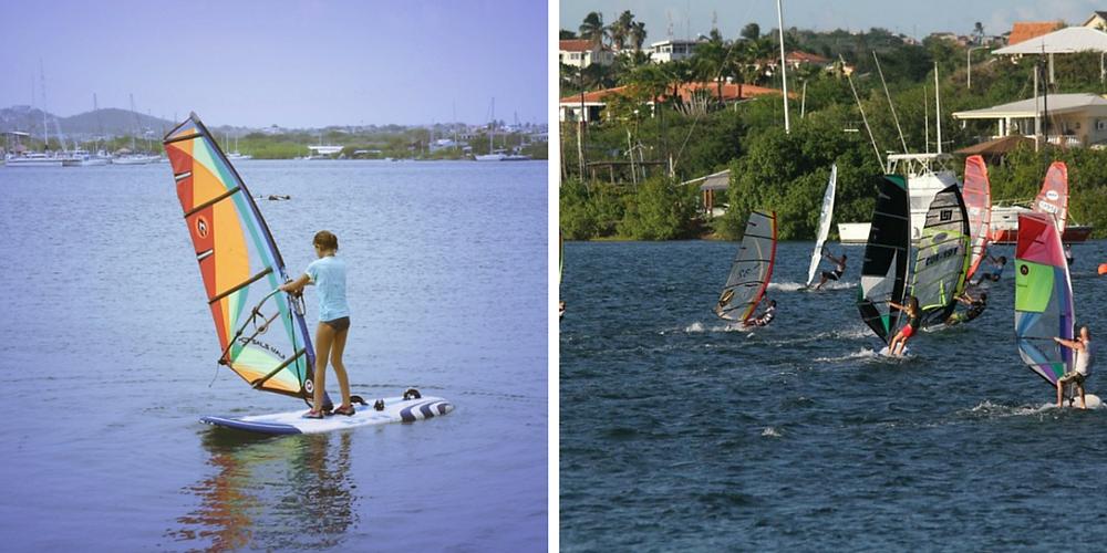 Curacao kids windsurfing