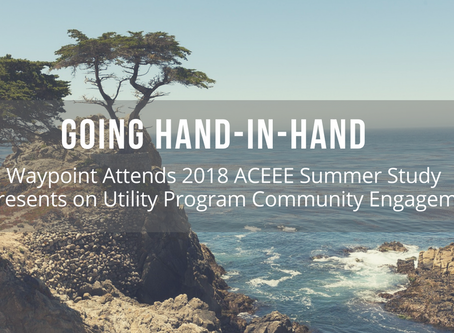 Going Hand-in-Hand: Waypoint Energy Attends ACEEE 2018 Summer Study and Presents on Utility Program