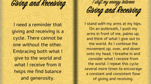 How to Shift Your Energy between GIVING and RECEIVING