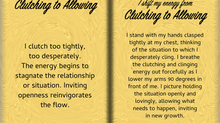 How to Shift Your Energy from CLUTCHING to ALLOWING