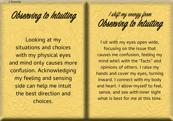 How to Shift Your Energy from OBSERVING to INTUITING
