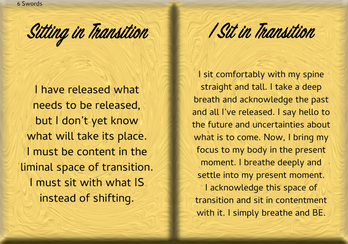 How to SIT IN THE ENERGY OF TRANSITION