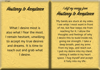 How to Shift Your Energy from HESITANCY to ACCEPTANCE