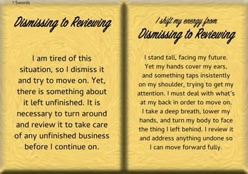 How to Shift Your Energy from DISMISSING to REVIEWING