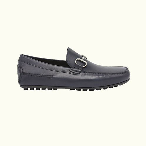 LEATHER LOAFER NAVY-SHLT00755#44