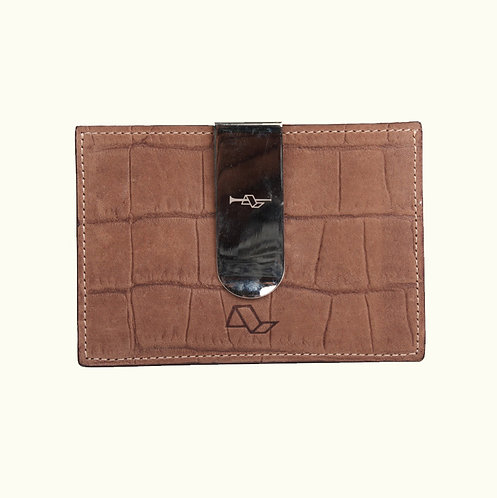 Flat card holder with clip-CC40777