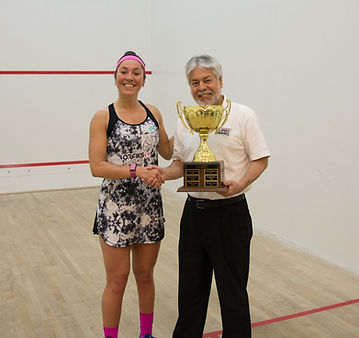 2019 Champion Amanda Sobhy receiving tro