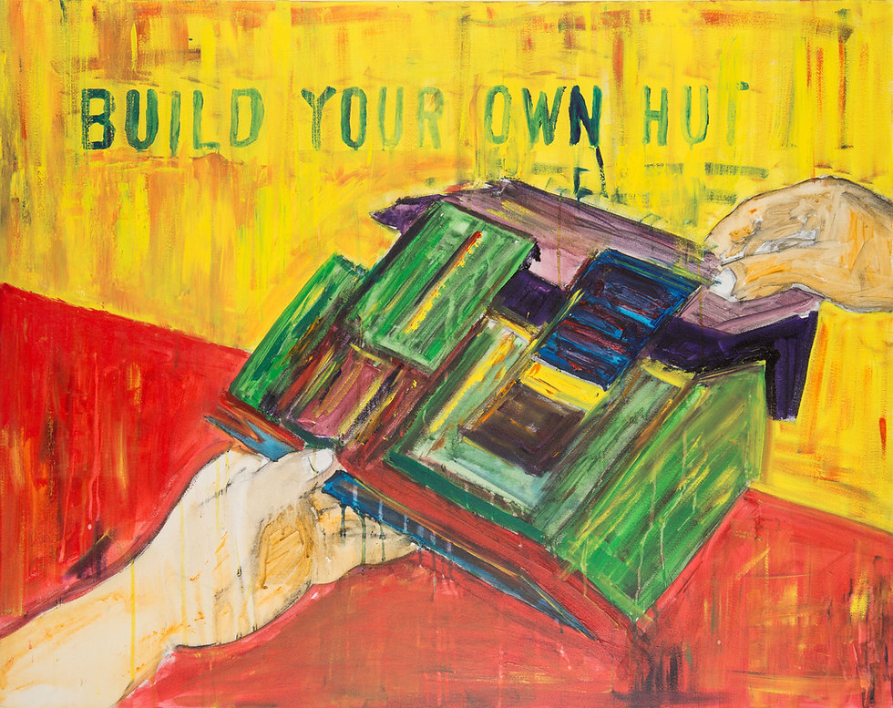 marykate o'neil painting, buildyour own hut