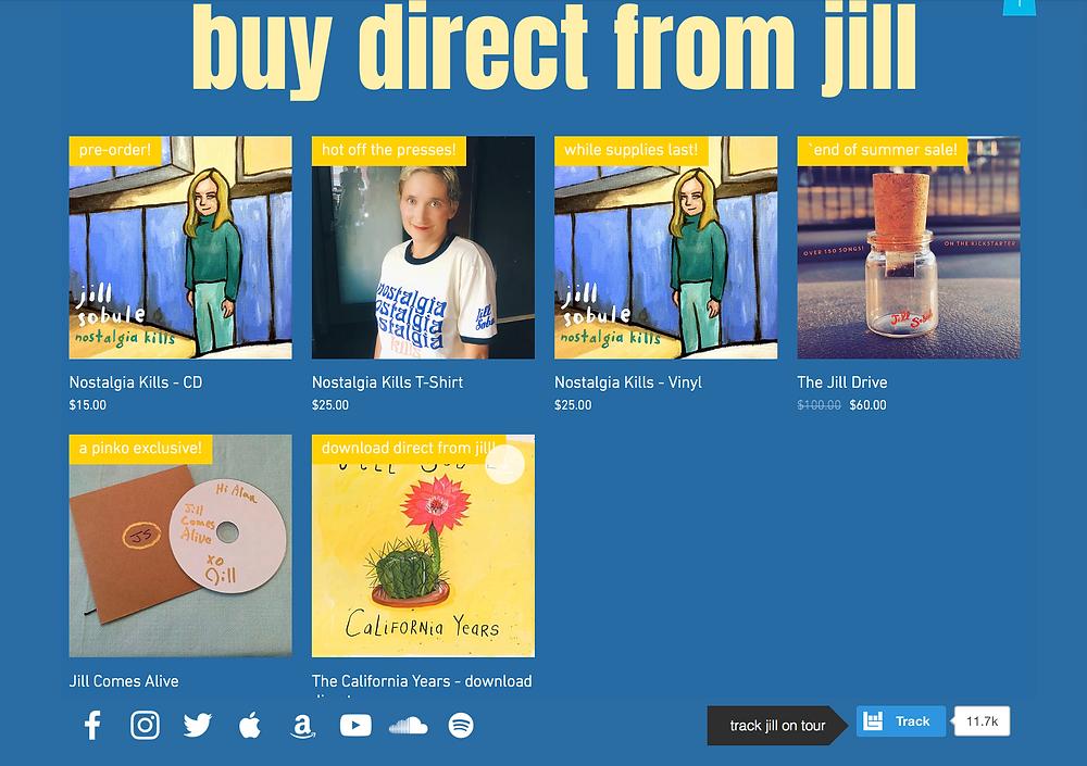 go to jillsobule.com/shop
