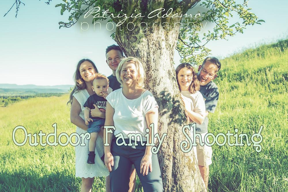Familien Shooting im Grünen, zur Goldenen Stunde