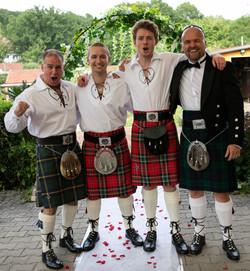 real Scotts Wedding get up