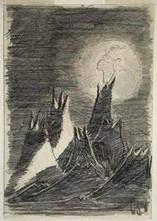 Petr Ginz, Moon Landscape