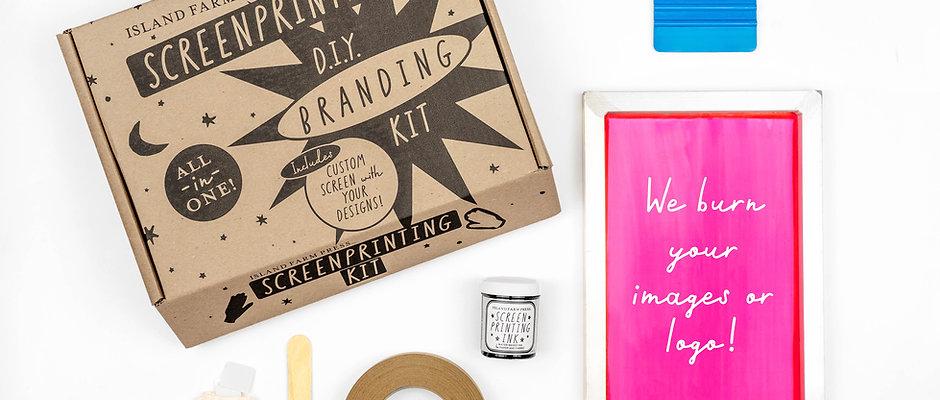 DIY Branding Kit - Includes Custom Pre-Exposed Screen