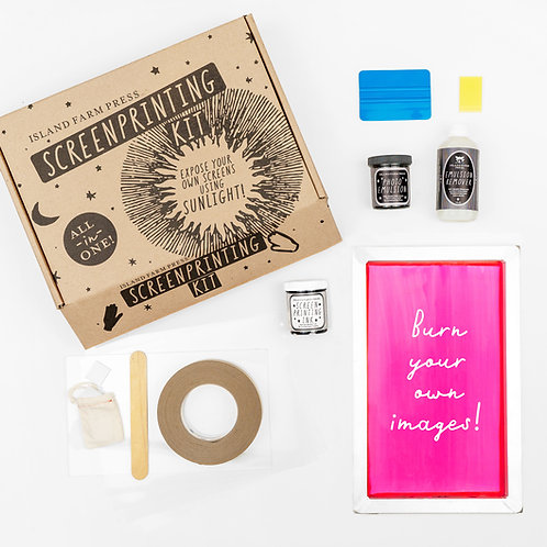 DIY Screenprinting Kit - Expose Your Own Screens with Sunlight!