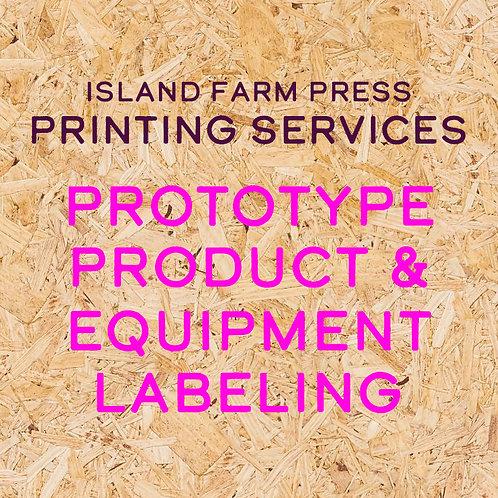 Prototype, Product & Equipment Labeling