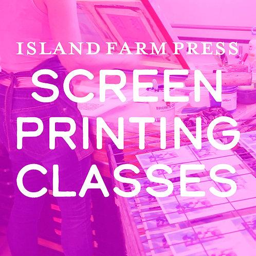 Screenprinting Classes