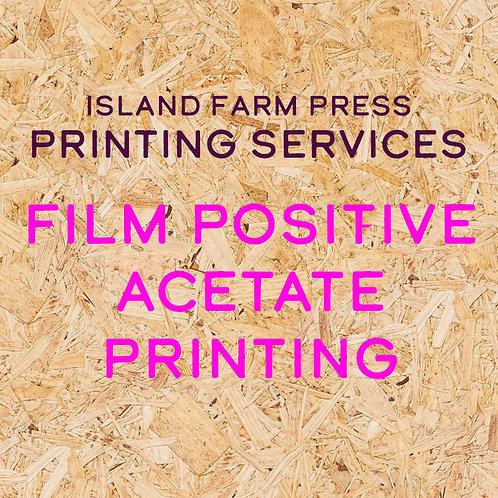 Film Positive Acetate Printing