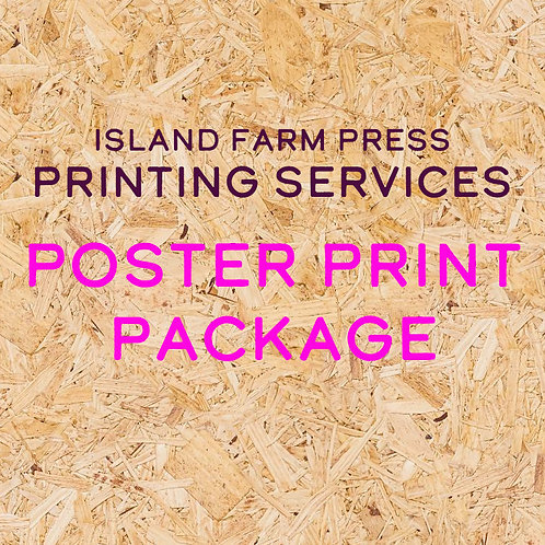 Poster Print Package