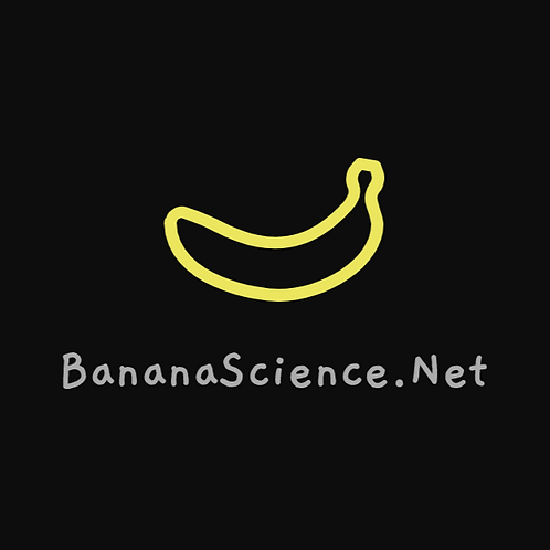 Banana Science Sticker