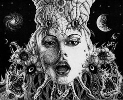 The Deep-Space Goddess (sold- prints ava