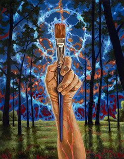 Key to the Universe oil on board 22x28