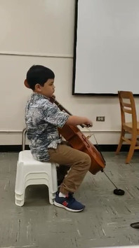 His first Solo and Ensemble Festival!