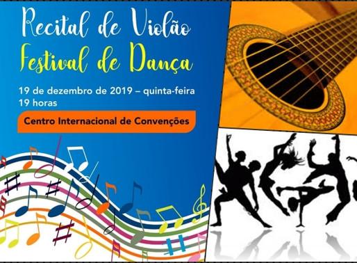 Arte – Festival de Dança e Recital de Violão em Ponta Porã nesta quinta