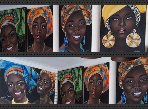 Exposição – Beleza negra em telas na Cleber Molduras Galeria de Artes