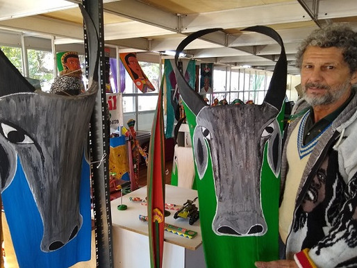 """Arte Visual – Lino Bambil entra em sua nova fase com as """"caras de boi"""""""